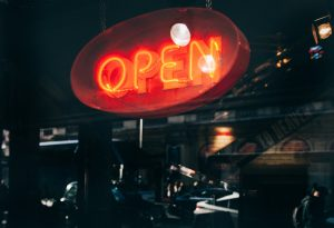 Small Business Neon Open Sign