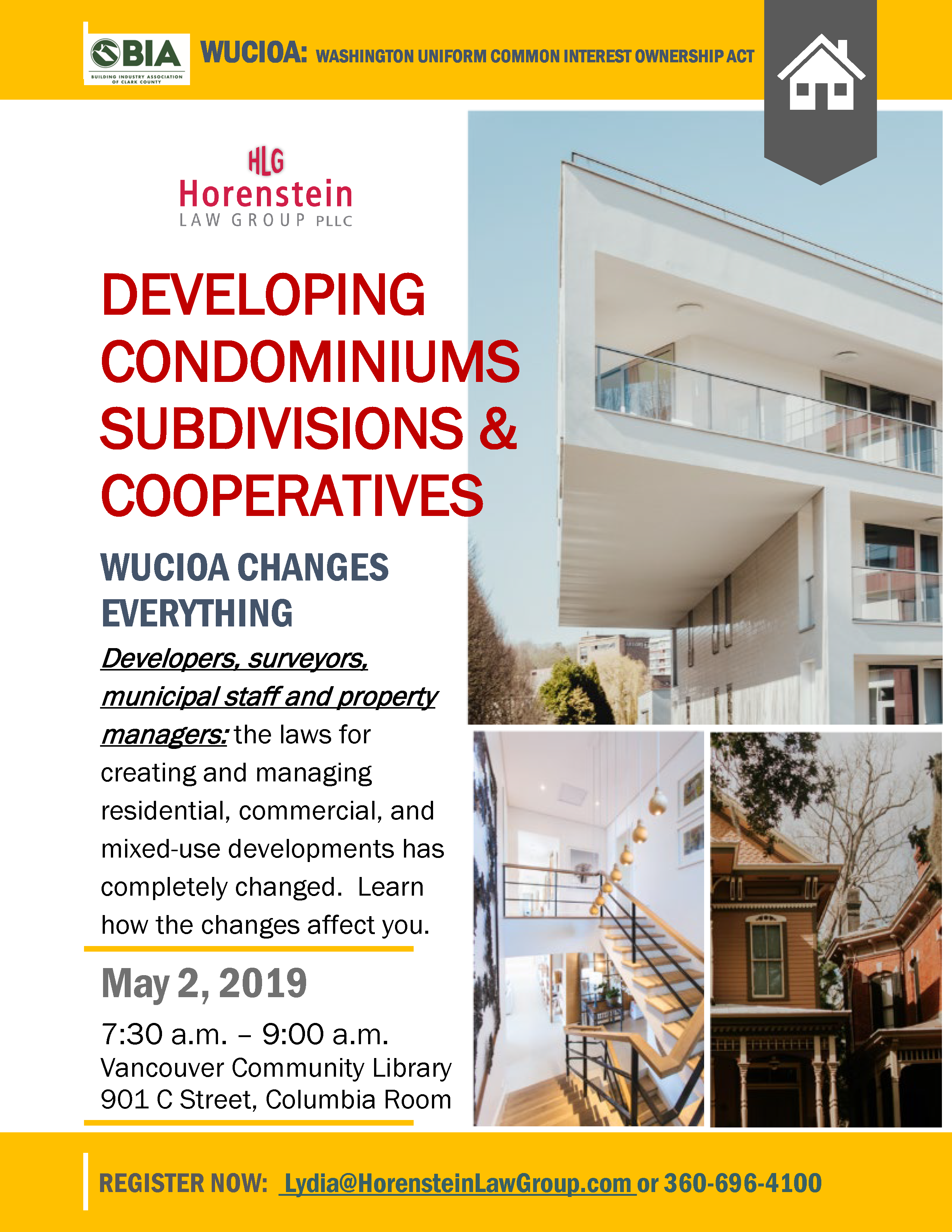 Developing condominiums, subdivisions and cooperatives flyer