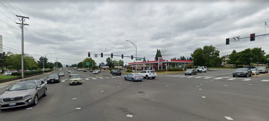 Traffic at Chkalov and Mill Plain in Vancouver, WA